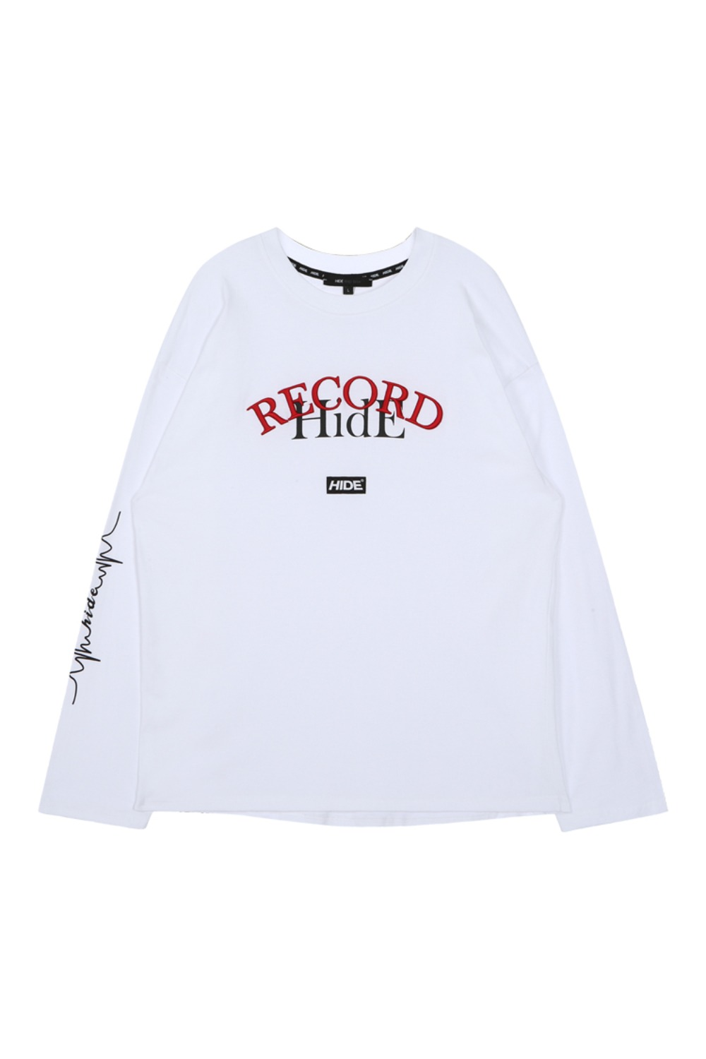 HIDE Overfit Record T-Shirt IVORY