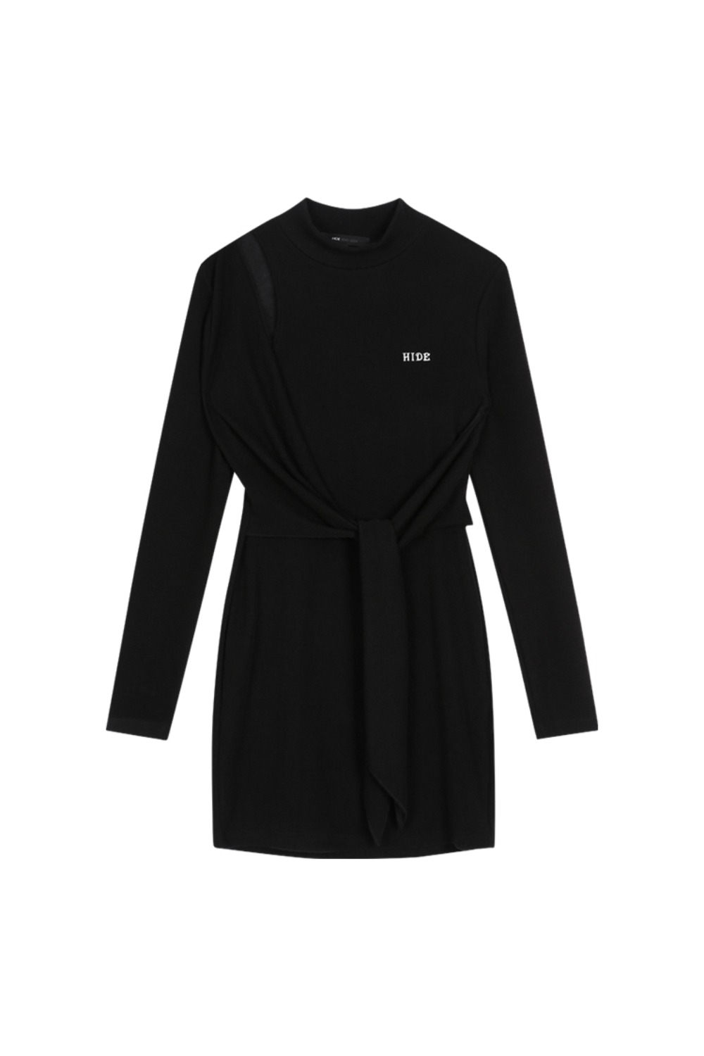 HIDE Cutting Lap Dress BLACK