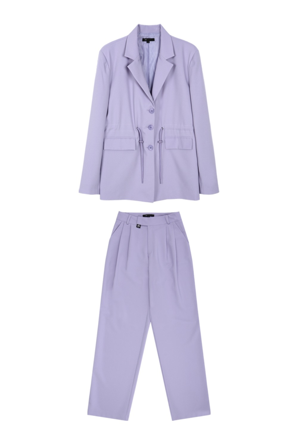 HIDE String Jacket & Pintuck Pants LIGHT PURPLE