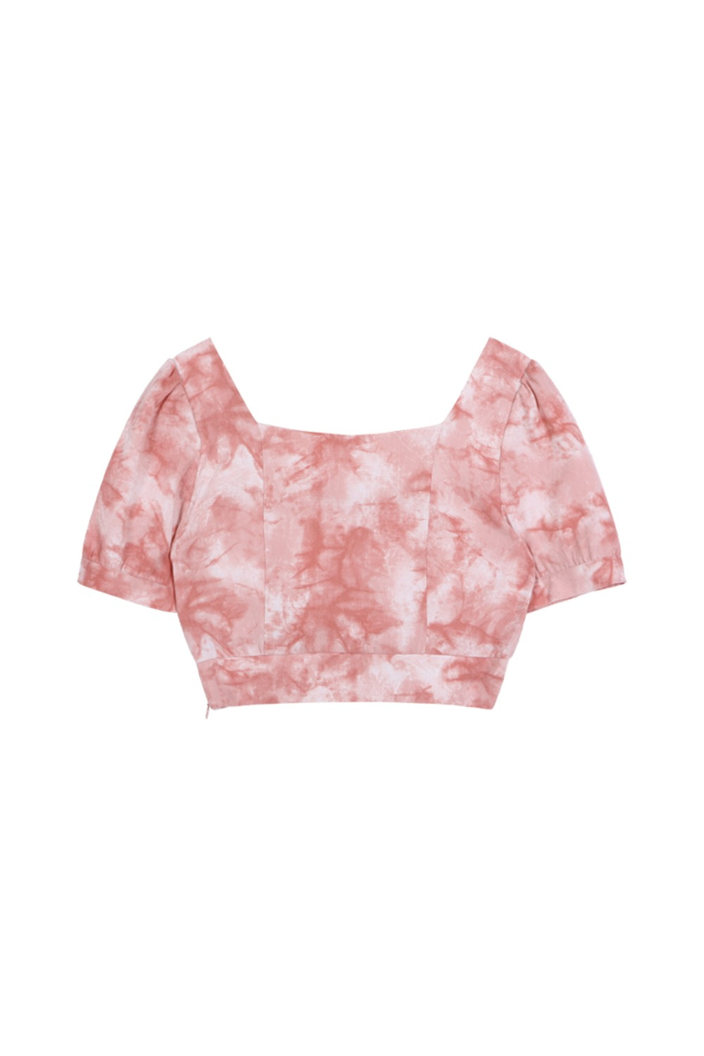 HIDE Tie Dye Crop Blouse PINK