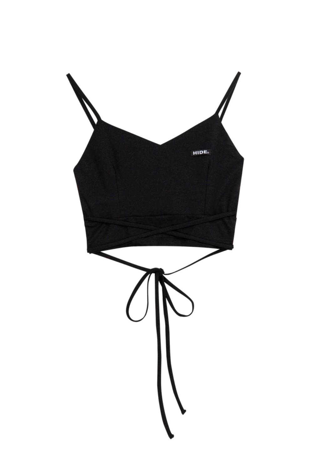 HIDE String Sleeveless Top BLACK