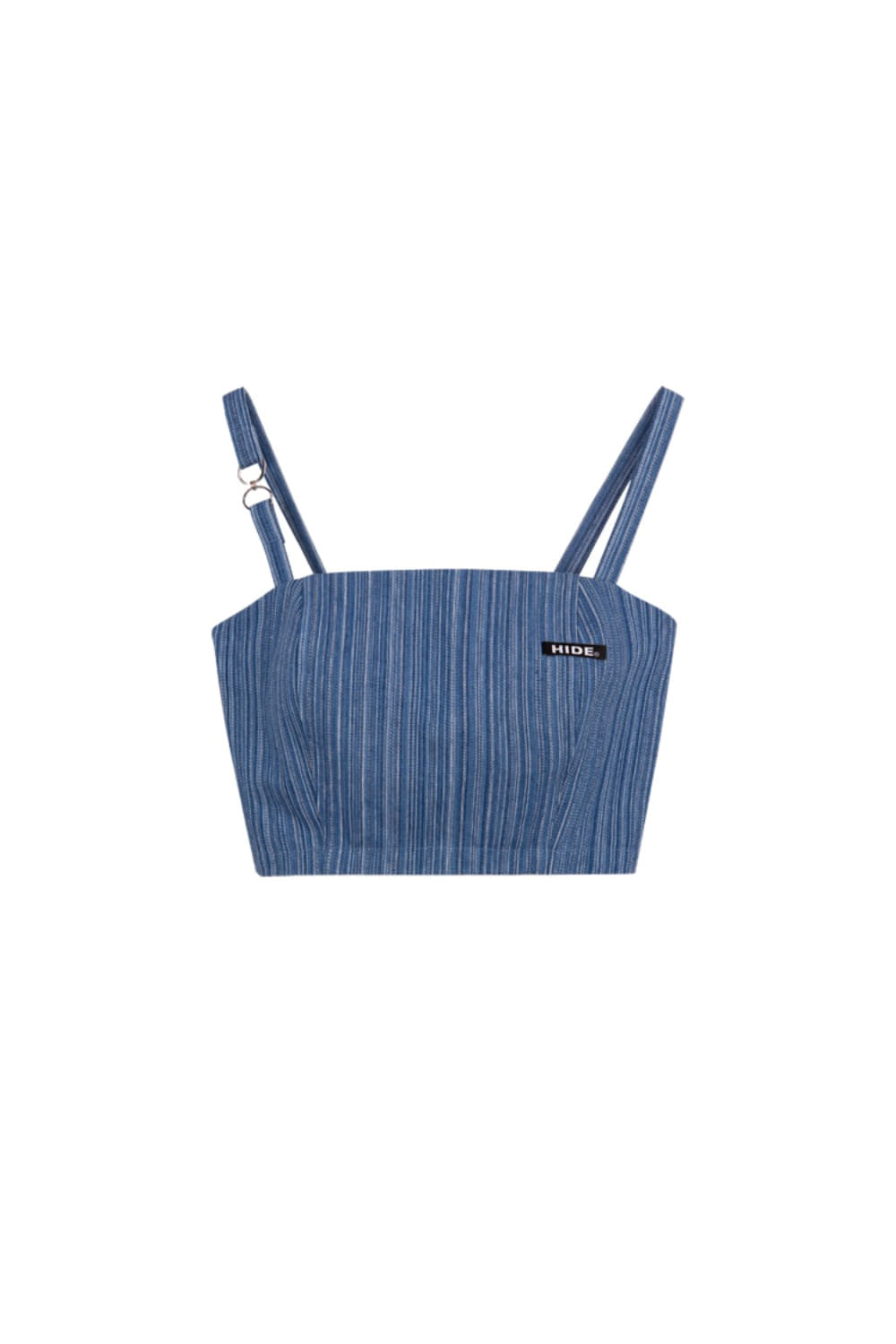 HIDE Stripe Denim Sleeveless Top BLUE