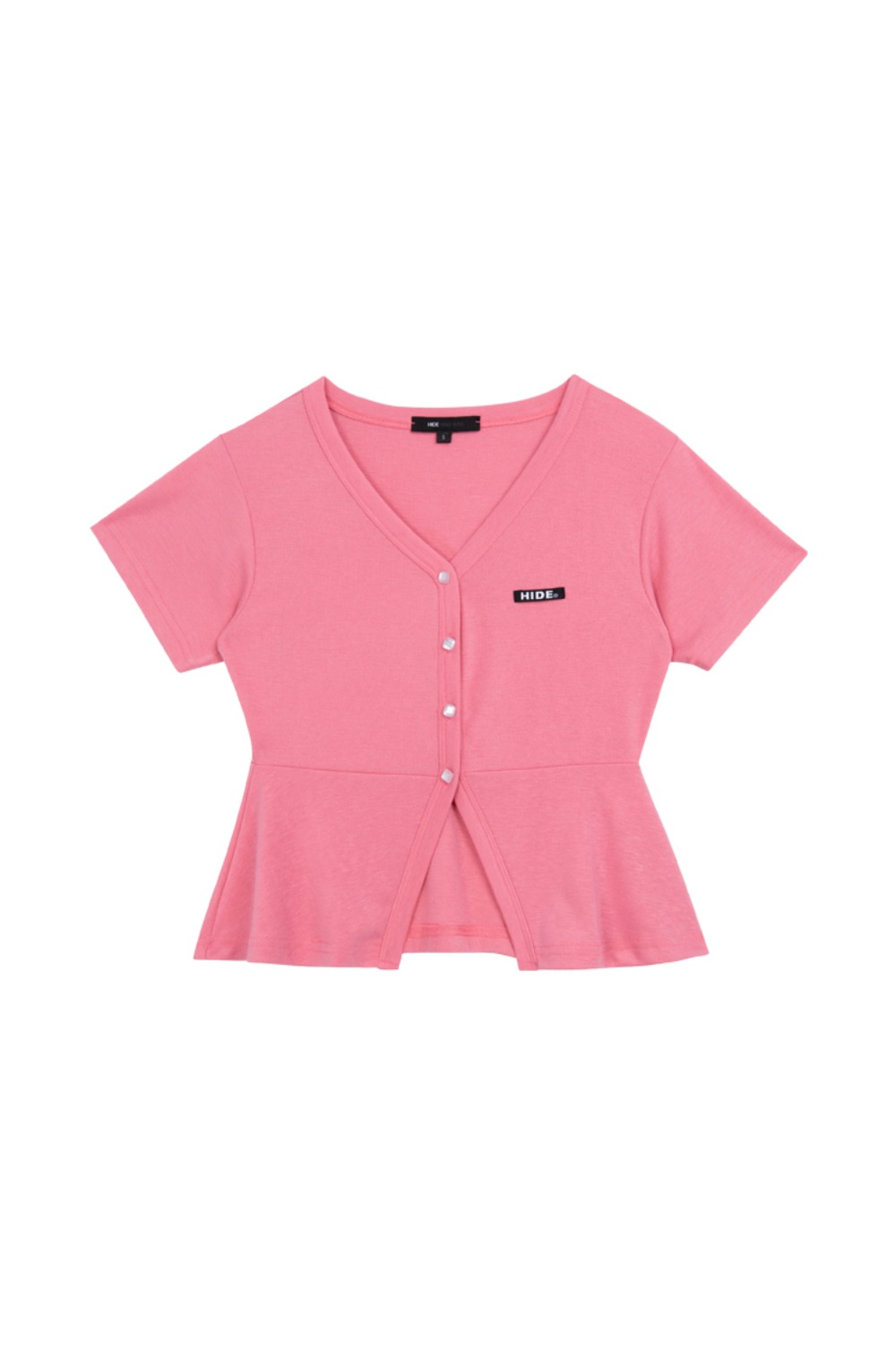 HIDE Frill Button Top PINK