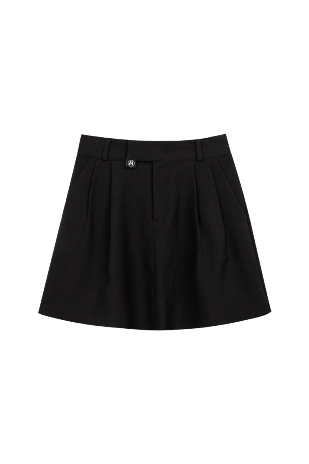 HIDE Pintuck Skirt BLACK