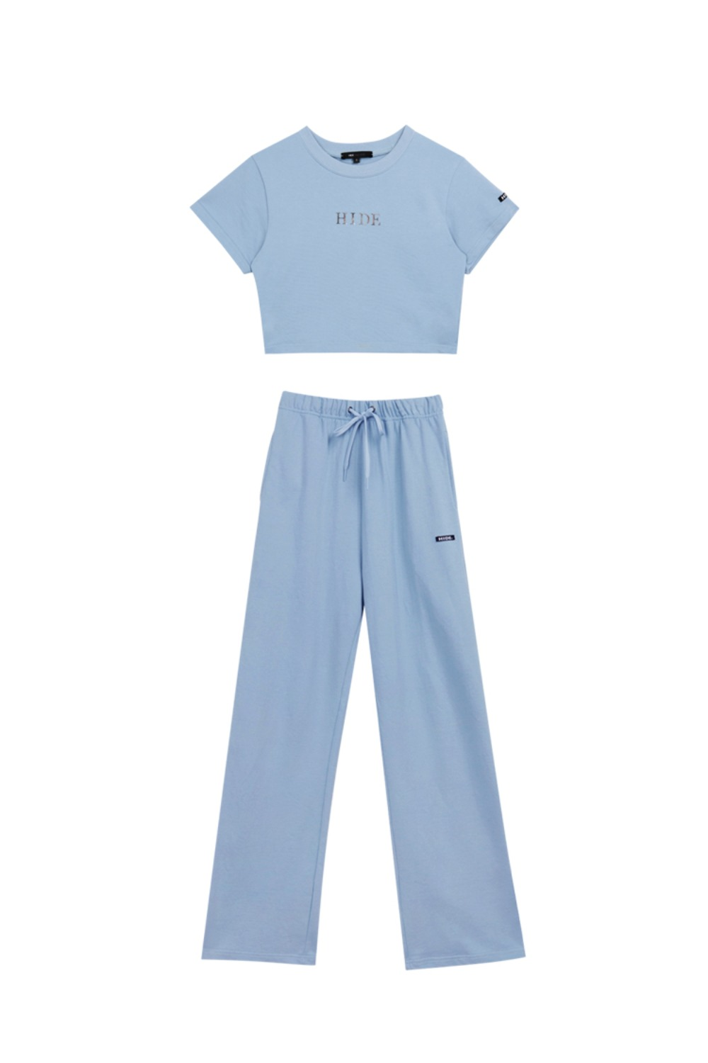 HIDE Mirror Crop Top & Wide Pants SKY BLUE