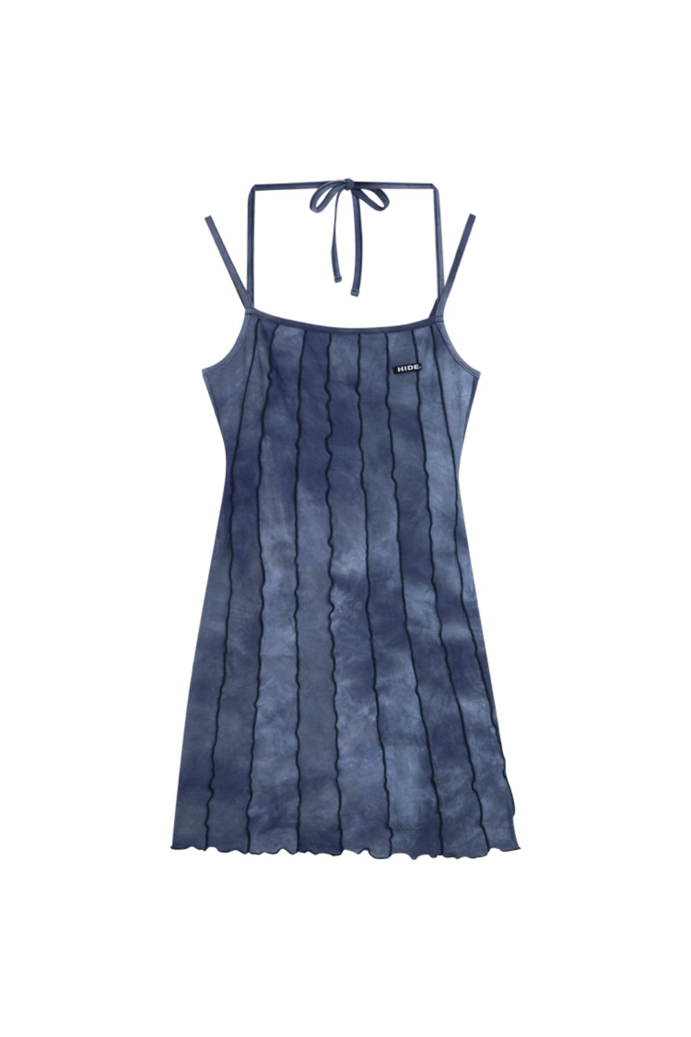 HIDE Lettuce Edge Dress DEEP NAVY