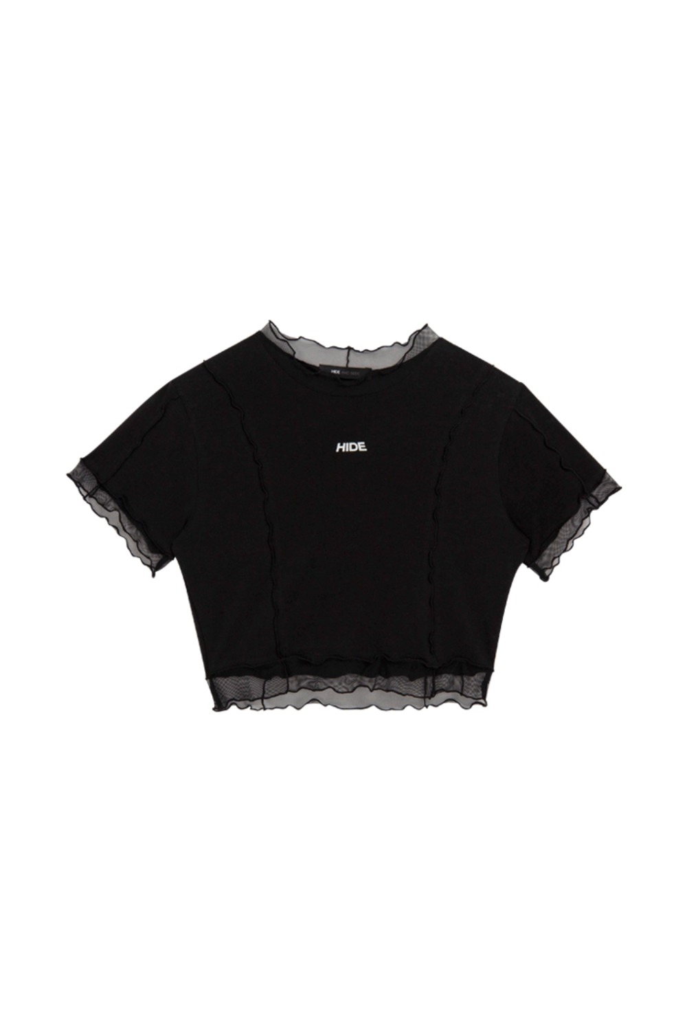 HIDE Lettuce Edge Top BLACK