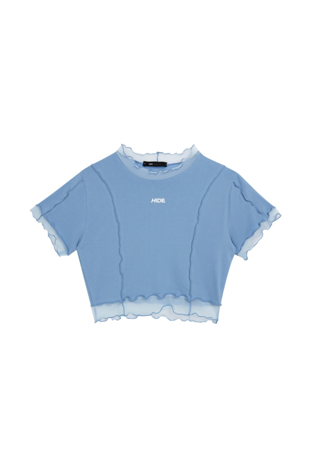 HIDE Lettuce Edge Top SKY BLUE