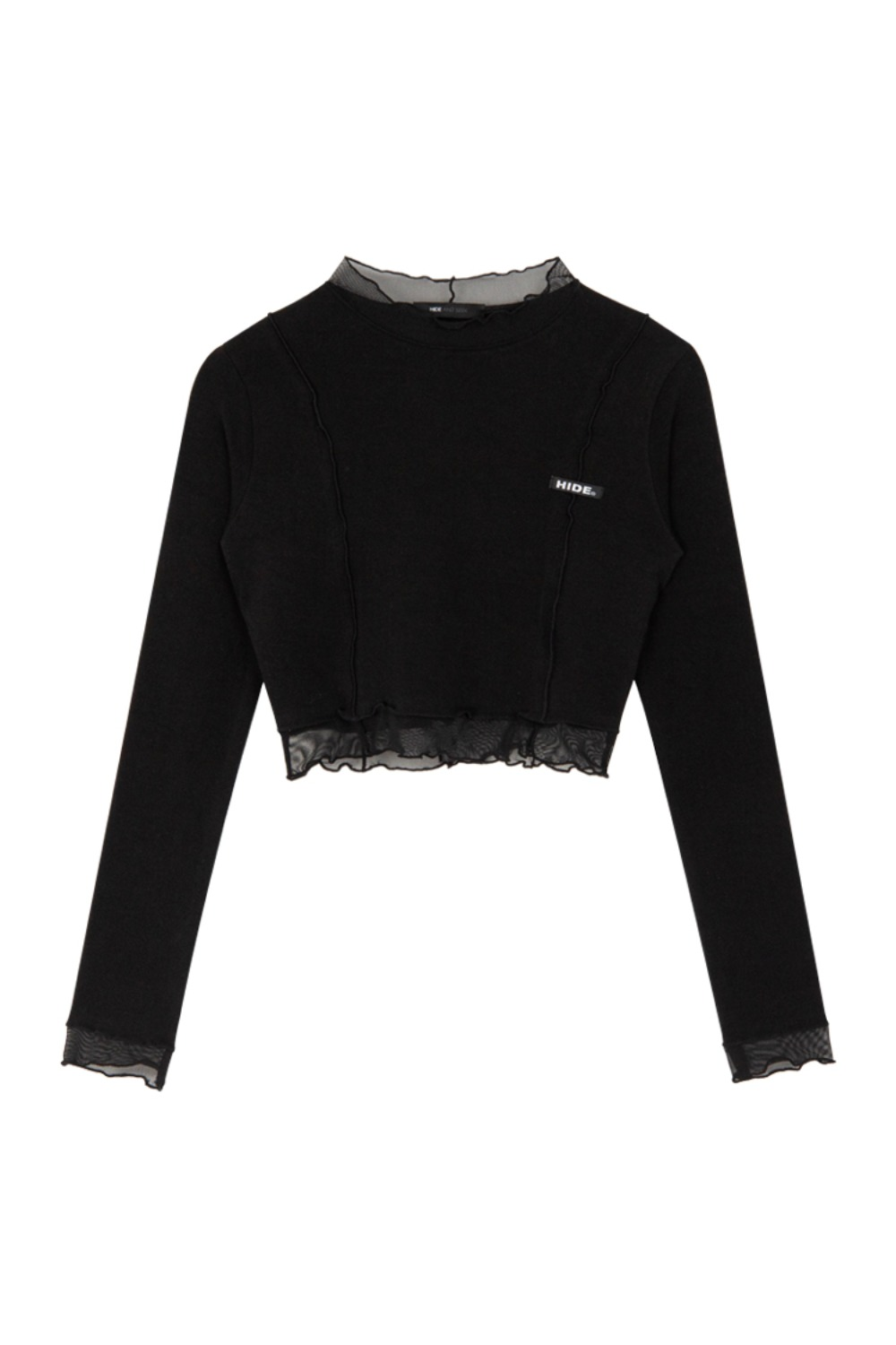 HIDE Lettuce Edge Point Top BLACK