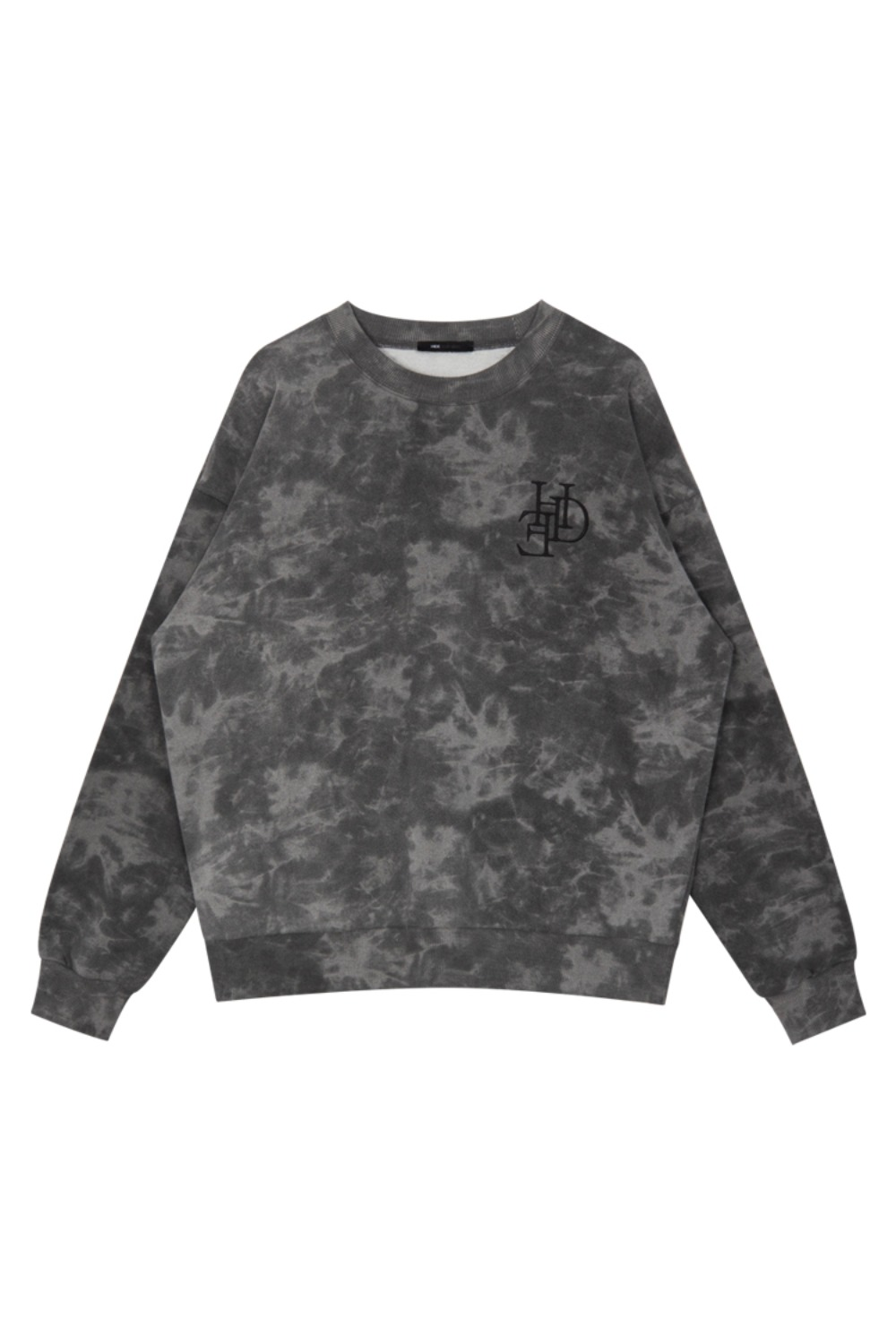 HIDE Tie Dye Sweat Shirt BLACK