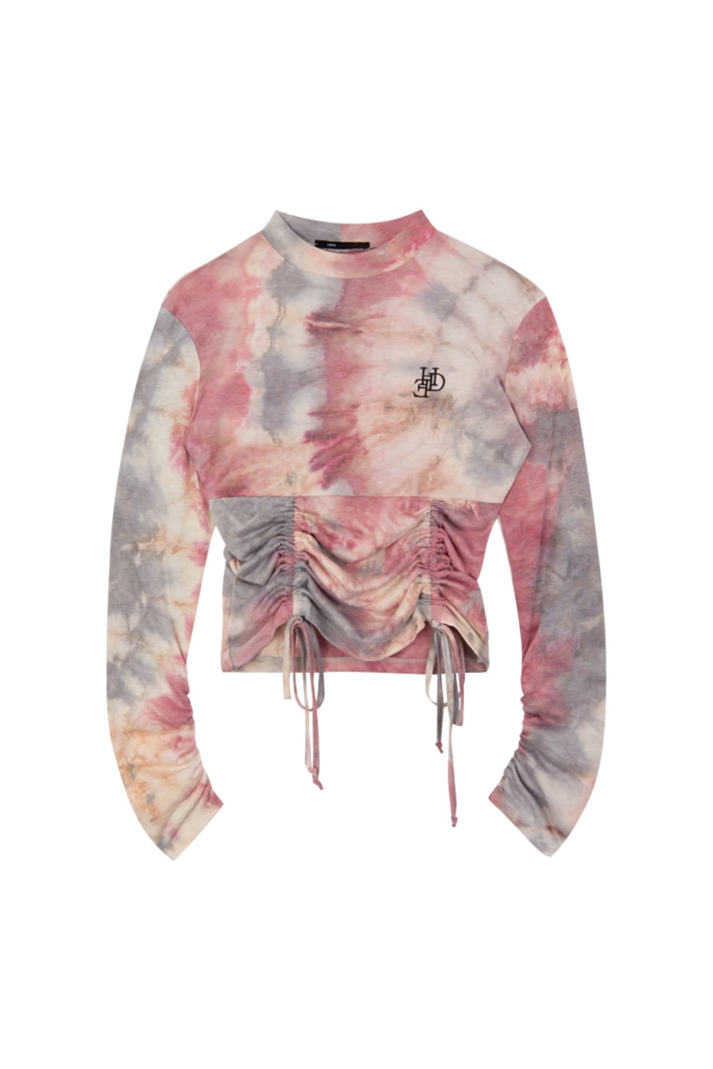 HIDE Tie Dye String Top DARK PINK