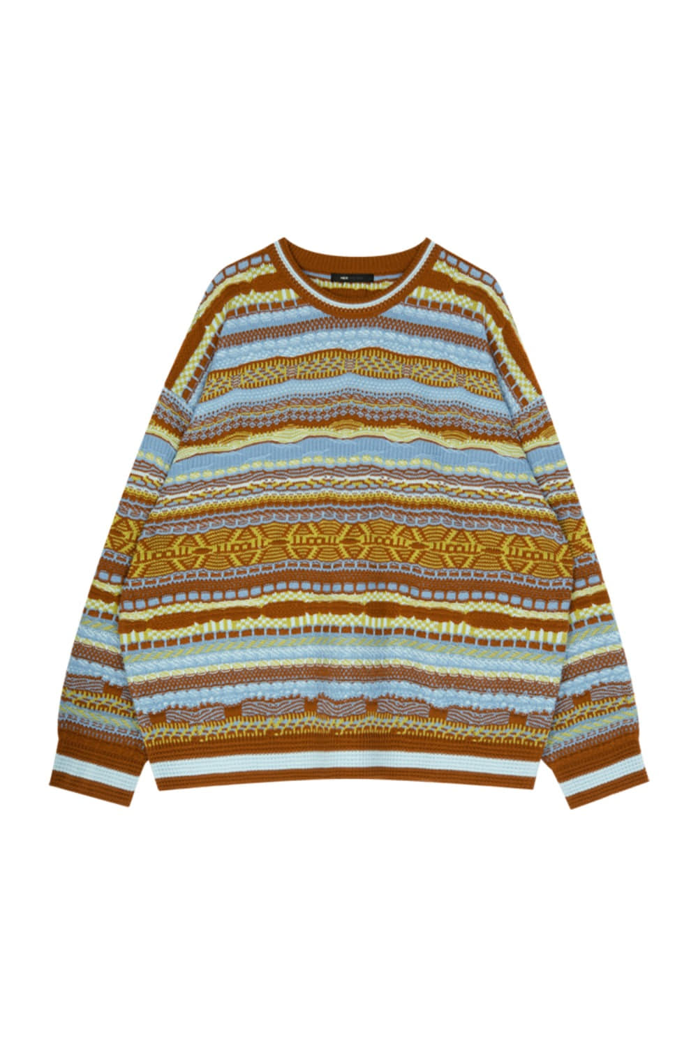 HIDE Geometric Knit BROWN