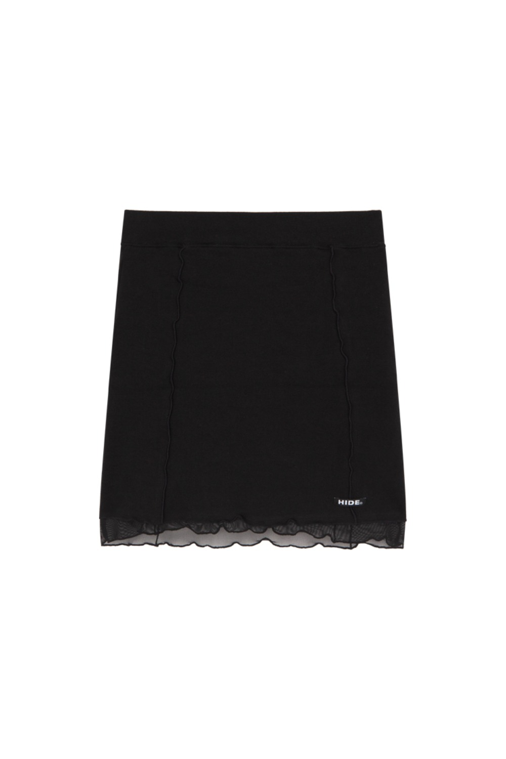 HIDE Lettuce Edge Skirt BLACK