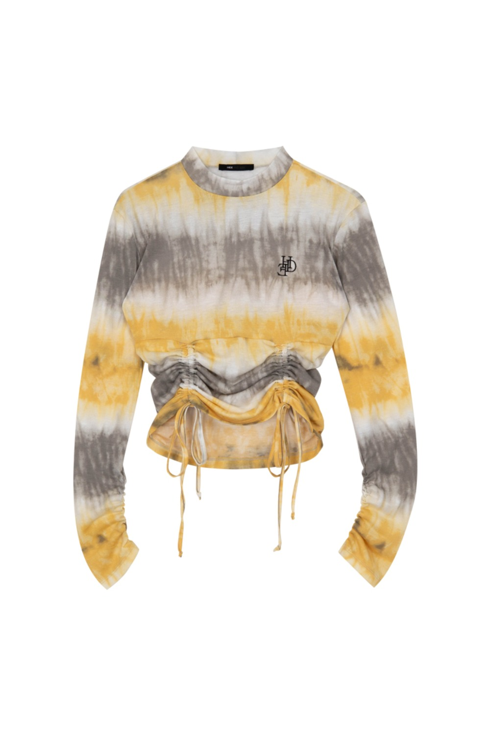HIDE Tie Dye String Top YELLOW