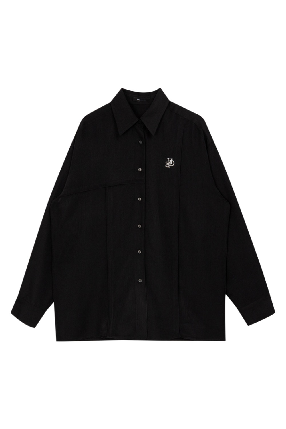 HIDE Logo Cutting Shirt BLACK